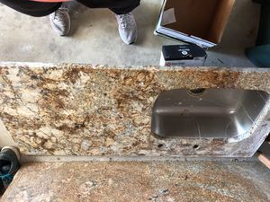 Granite slab for island and deep kitchen sink with granite piece for Sale in St. Louis, MO
