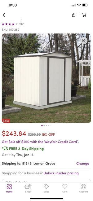 Storage shed for Sale in San Diego, CA