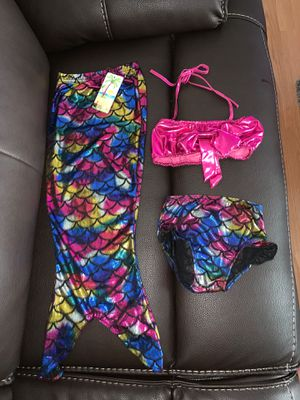 2T mermaid swim suit, toddler swimming wear for Sale in Los Angeles, CA