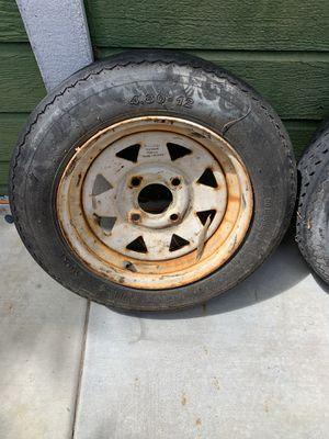 Trailer tires and rims 25 bucks for Sale in Encinitas, CA