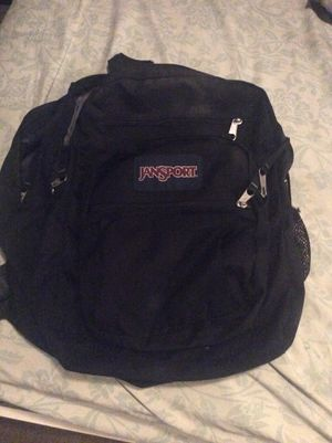 JAN SPORT BACKPACK/ BLACK/ 5 POCKETS/ DURABLE for Sale in Artesia, CA