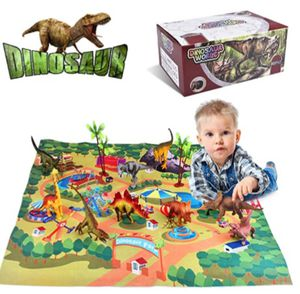 Villana Dinosaur Toys for Kids 3-5, with Activity Play Mat & Trees for Creating Jurassic World Dinosaurs, Including T-Rex, Triceratops, Velociraptor, for Sale in Rancho Cucamonga, CA