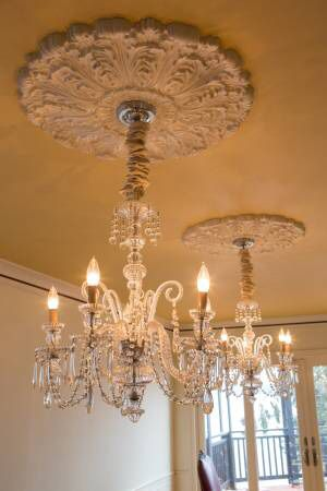 Vintage Pair Crystal Chandeliers with 5 branches for Sale in Seattle, WA