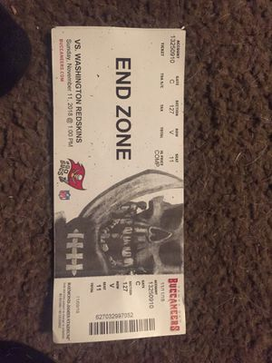 One End zone ticket to bucs game this Sunday for Sale in Tampa, FL