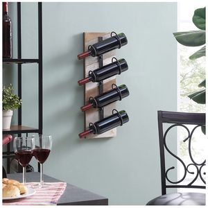 FirsTime & Co. Parker Planks Floating Wine Rack, Rustic Brown, Gray, White for Sale in Baltimore, MD