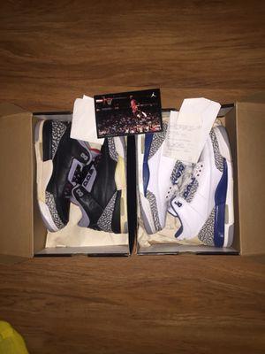 Vintage Nike Air Jordan 3's Size 9 & 8.5 for Sale in Alexandria, VA