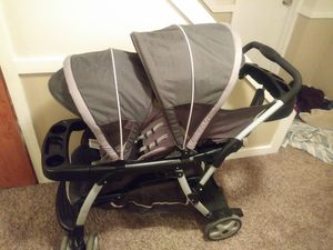 Graco click connect double stroller. Sit and stand for Sale in Kirkville, NY