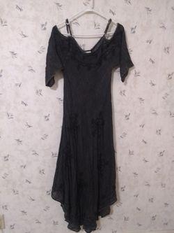 Bohemian gray black dress size M for Sale in Newton,  KS