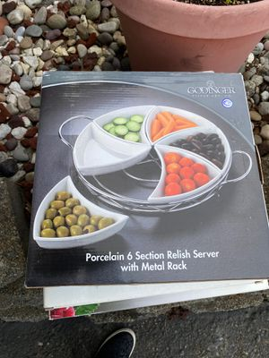 6 section relish server with metal rack for Sale in Bothell, WA