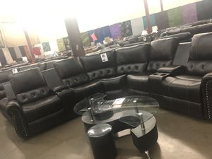 Bonded leather reclining sectional. Brand new. for Sale in Southlake, TX