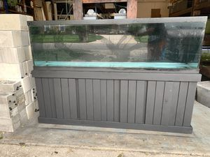 125 Gallon Aquarium Fish Tank with Solid Wood Stand for Sale in Orlando, FL
