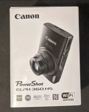 New Canon PowerShot ELPH 360 Camera 12x 20.2 MP Image Stabilization Silver for Sale in Silver Spring, MD