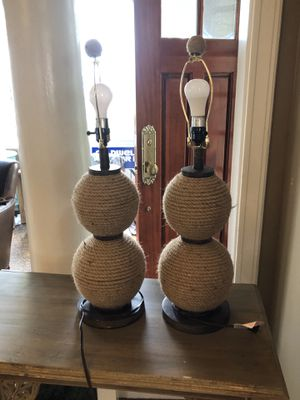 Pair of Rope Lamps for Sale in Seattle, WA