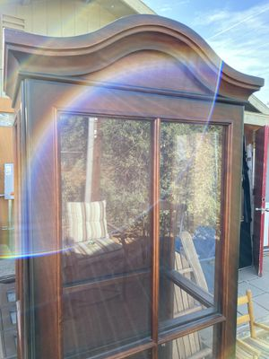 Antique glass cabinet 21x15 and 74in tall 40th ST and Greenway for Sale in Phoenix, AZ