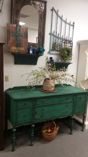 "Antique Teal Buffet 66""wide 22""deep 39""high for Sale in Mesa, AZ"