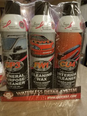 Fastwax Waterless Detail Set (auto/boat/home) for Sale in Knoxville, TN