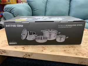 New 8pc Stainless Steel Cookware set: Pots & Pans for Sale in Virginia Beach, VA