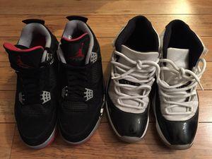 new product a8cce 3424e Nike Air Jordan 4 bred (2012) and Air Jordan 11 concord (2011)