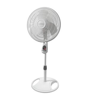 Lasko, remote control pedestal oscillating fan with built in timer. for Sale in Herndon, VA