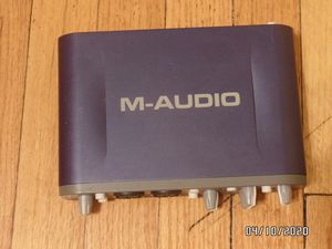 M-Audio Fast Track Pro USB Audio Interface with GT Player Express, Ableton Live Lite 5, Pro Tools SE - Stereo (2) for Sale in Chicago, IL