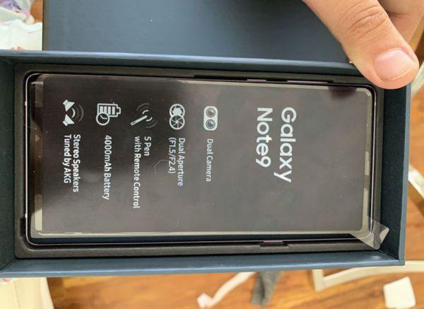 Samsung Galaxy Note 9 128GB FACTORY UNLOCKED, with Warranty