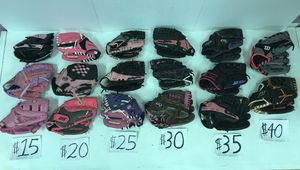 Discounted Fast Pitch Softball Gloves 3. ($15-$40) for Sale in Decatur, GA