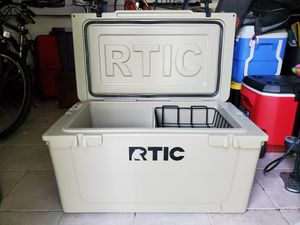RTIC Cooler 65 - Tan, with Divider & Basket for Sale in Longwood, FL