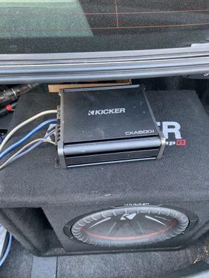 Kicker sub and amp with wires for Sale in Takoma Park, MD