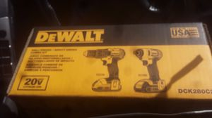 Dewalt drill driver impact driver combo kit for Sale in Vancouver, WA