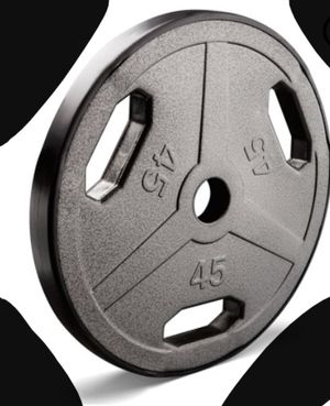 New!! 45# Olympic weight plate, weight equipment, fitness equipment, exercise equipment for Sale in Phoenix, AZ