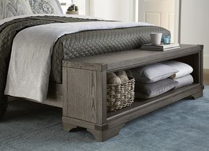 Victory Creek king bed frame with bench and storage. for Sale in Smyrna, TN