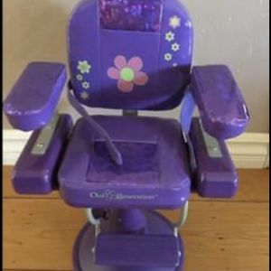 Our Generation / American Girl Doll Purple With Flowers Salon Chair, Hair Salon for Sale in San Leandro, CA