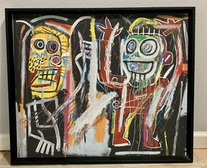 "Like New ""Basquiat Dustheads"" Print In A $400 Frame for Sale in Pismo Beach, CA"