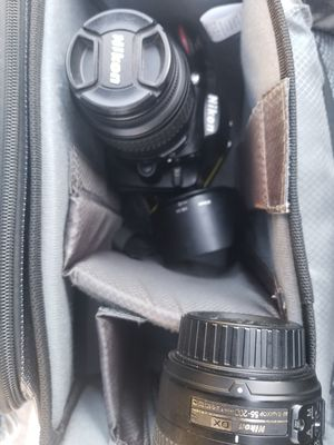 Nikon D3200 +2 lenses (used) for Sale in San Diego, CA