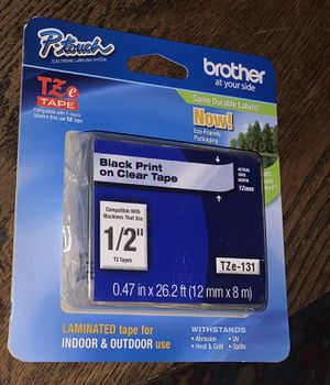 Tape cartridges - Brother P-touch label maker for Sale in Scottsdale, AZ
