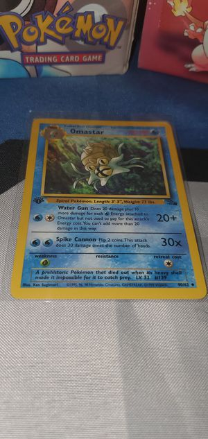 Pokemon 1st edition Omastar for Sale in Renton, WA