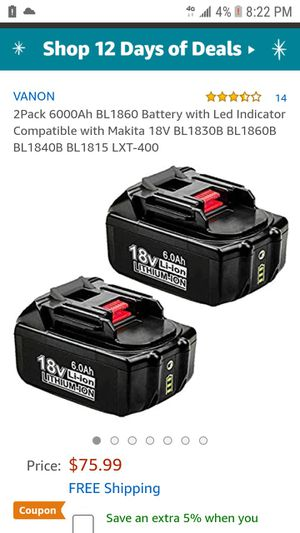 1 makita 18 v lithium battery for Sale in Bakersfield, CA