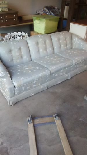 Beautiful couch like new sofa loveseat blue flowered couch for Sale in Visalia, CA