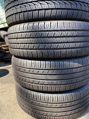 Set 4 usted tire 225/60R18 two Michelin one Goodyear end one GENERAL two have patch set 4 used tire $130 for Sale in Alexandria, VA