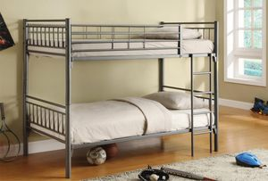 Brand New Twin Size Silver Metal Bunk Bed Frame for Sale in Laurel, MD