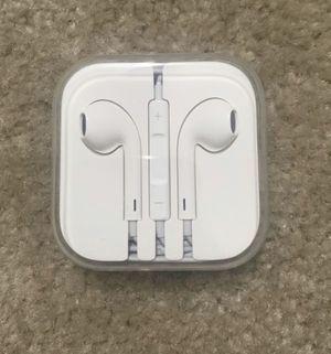 Apple original earphones 3.5 mm jack. Brand new never used. for Sale in Framingham, MA
