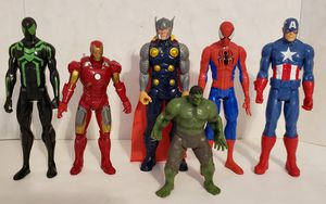 "Lot of 6 Marvel Figures Hasbro Superhero 11"", 10"" & 7.5"" for Sale in St. Petersburg, FL"