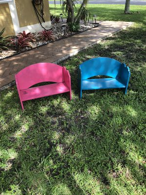 2 sturdy children's benches or book shelves for Sale in Southwest Ranches, FL