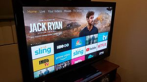 """46"""" TV with wood stand for Sale in Los Angeles, CA"""