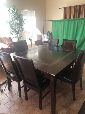 Pier One square table and 6 chairs for Sale in Bowie, MD
