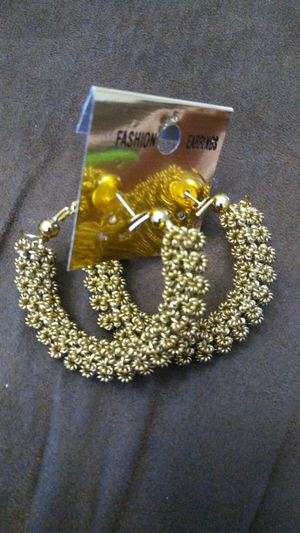 Earrings full golden color for Sale in Moreno Valley, CA