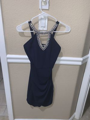 Women's navy blue dress size small worn once for Sale in Antioch, CA