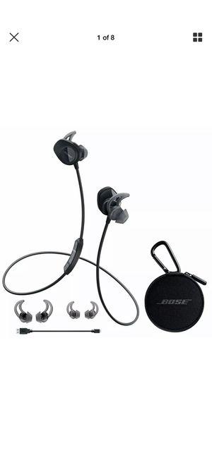 Bose black Bluetooth Soundsport Wireless earbuds for Sale in Fort Lauderdale, FL
