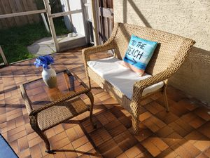 Patio set/balcony set/patio furniture/outdoor furniture/outdoor set/patio sofa/outdoor couch/outdoor loveseat and table/muebles de patio o balcon for Sale in Pembroke Pines, FL