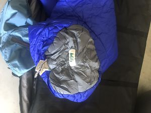 REI mummy sleeping bag blue and grey with bag for Sale in Chula Vista, CA